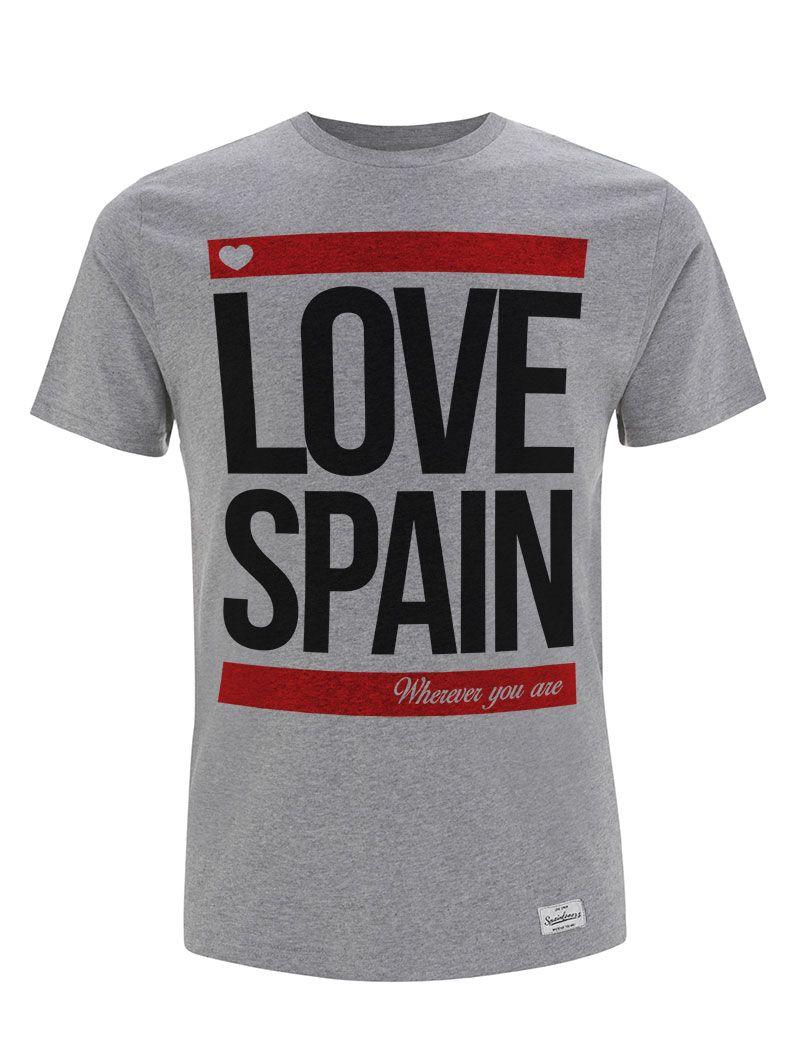 Camiseta gris y roja Love Spain Valentia Forum