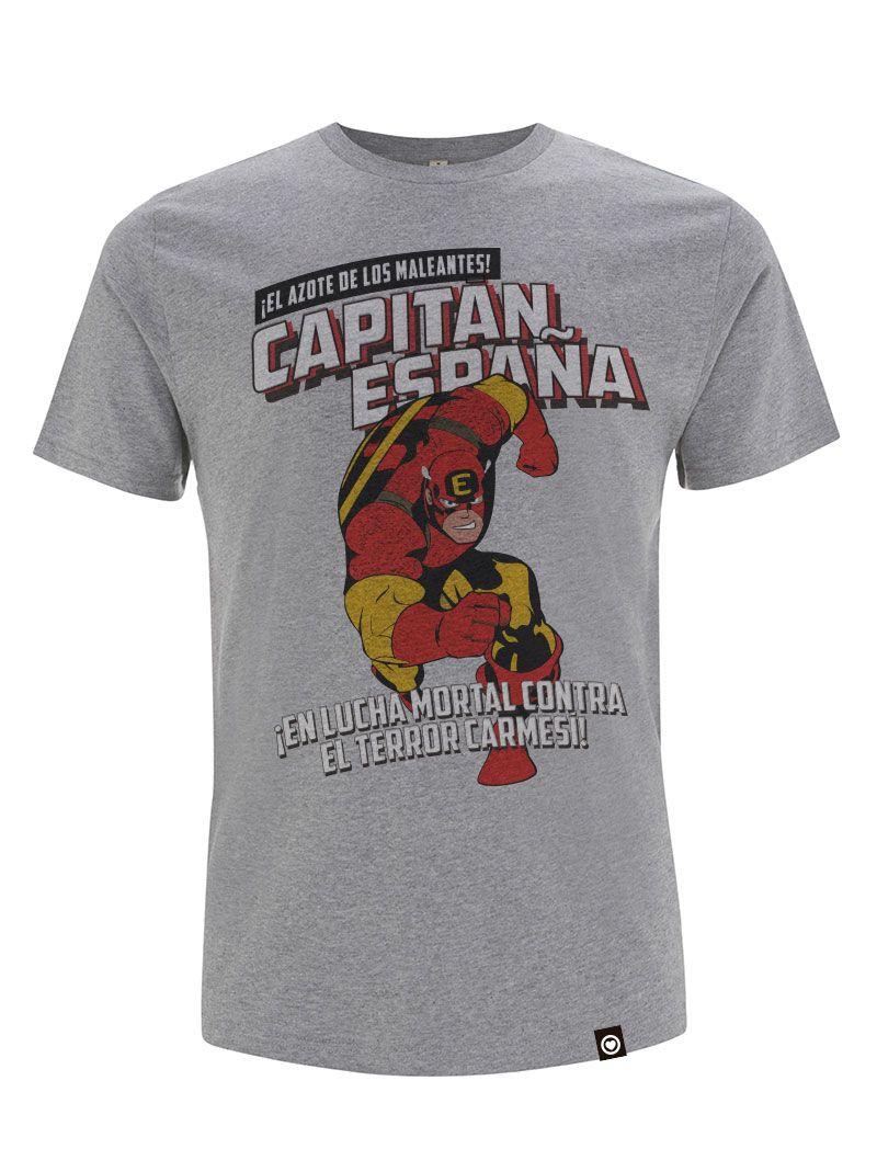 Camiseta gris Capitan España Captain Spain Valentia Forum