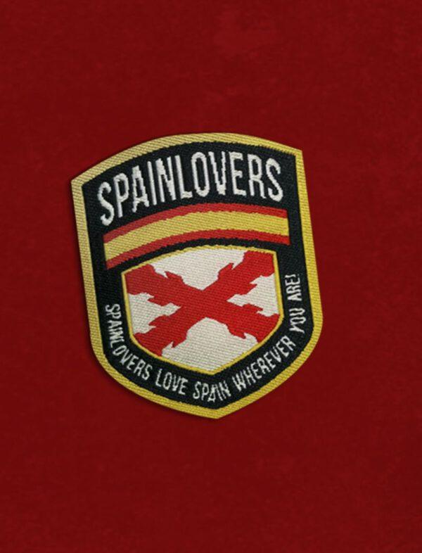 Escudo de la camiseta negra con la Cruz de Borgoña Valentia Forum