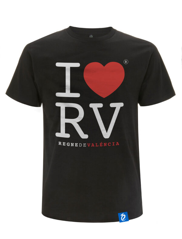 Camiseta Negra Love Regne Valencia