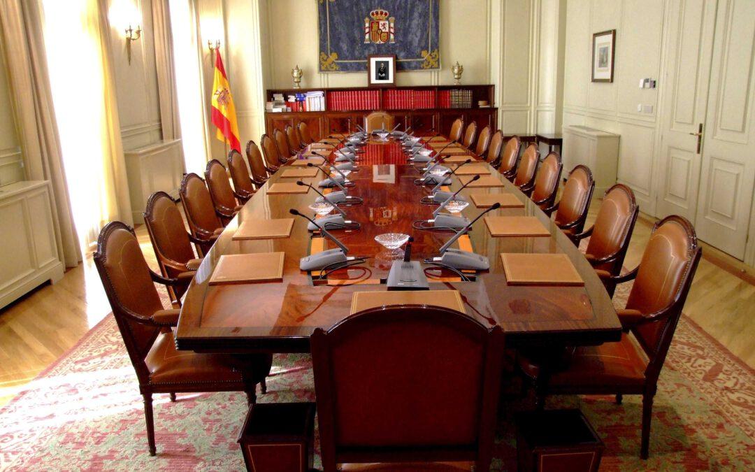 Salón del Consejo General del Poder Judicial último ataque del Gobierno socialcomunista para elegir a los miembros