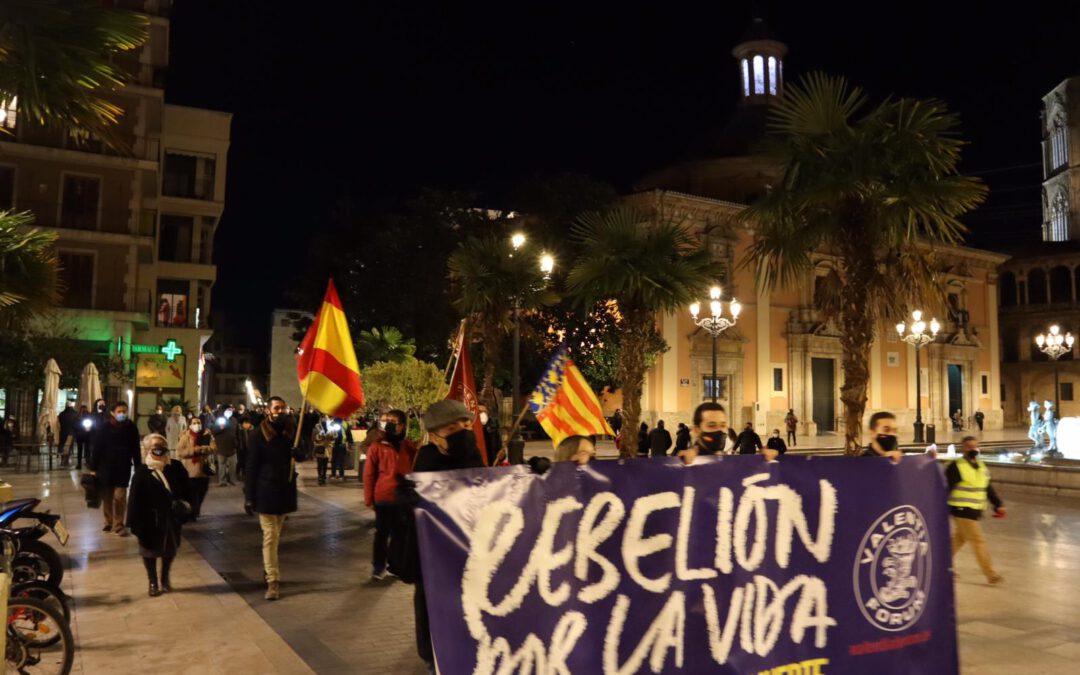 Manifestación a favor de la vida y en contra de la eutanasia en Valencia