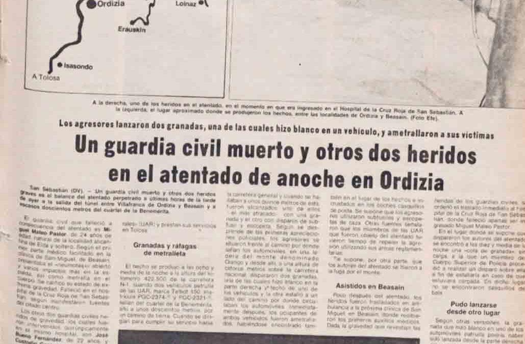 Asesinato del agente Miguel Mateo Pastor
